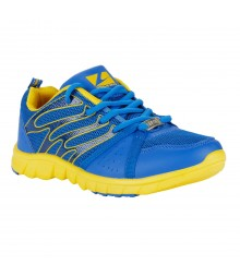 Vostro Royal Blue Yellow Sports Shoes for Men - VSS0056
